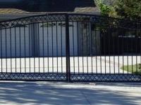 Bell-top swing gate
