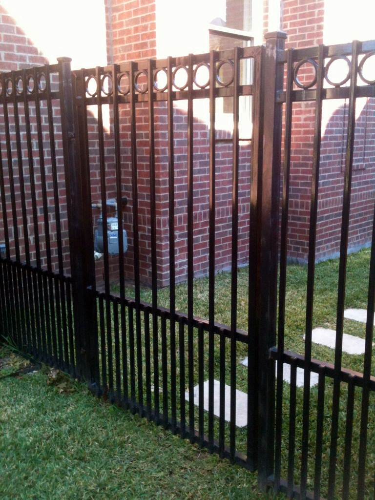 wrought iron fence gate. Iron Fence And Gates. Six Ft Puppy Panel Wrought Gate