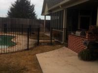 Black iron pool fence