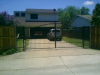 Custom double swing gate