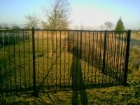 Galvanized pool fence