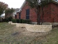 White Stone Garden Wall