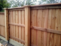 Custom fence with boxed posts solutions