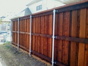 Dallas Fence Staining